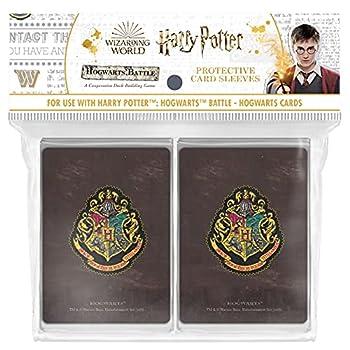 Harry Potter Hogwarts Battle Card Sleeves   160 Card Protector Sleeves for Hogwarts Cards from Harry Potter Deckbuilding Games   Cardsleeve Back Artwork Featuring Hogwarts Crest