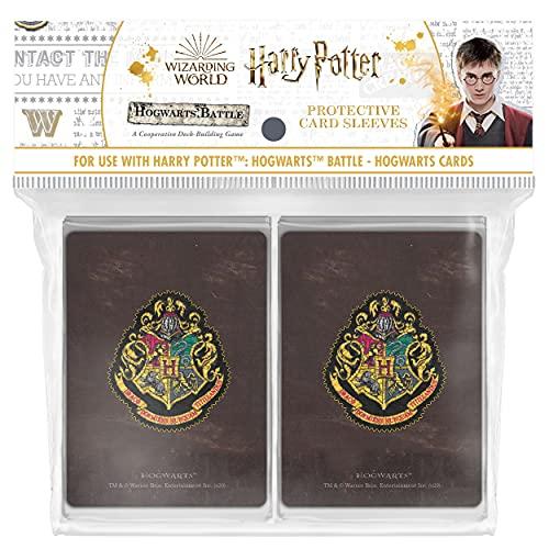 USAopoly USOSL01040000200050 Harry Potter: Fundas para Cartas de Batalla Hogwarts (160 Unidades)