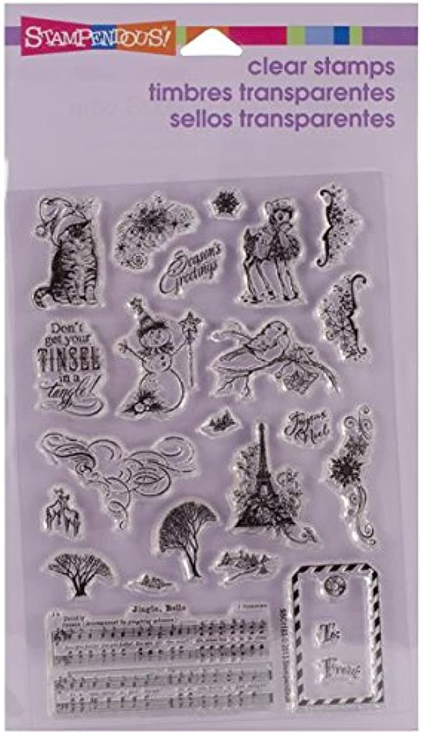 Stampendous Clear Christmas StampChristmas Charms