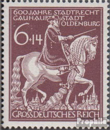 Duits Empire Mi.-Aantal.: 907III (compleet.Kwestie.), Slash Top door de 6 (Veld 5) 1944 601 Years Oldenburg (Postzegels voor verzamelaars) paarden
