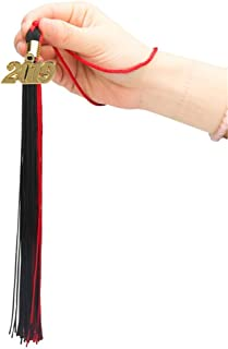 GraduationRoyal Two-Colored Graduation Tassel (9-inch) with Gold Year Charm (2019, Red&Black)