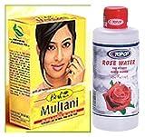 Hesh Herbal Multani Mati (Mitti) Fullers Earth 100G & Top Op Rose Water 200Ml - 2 In 1 Face & Skin Care Combo Pack by Hesh