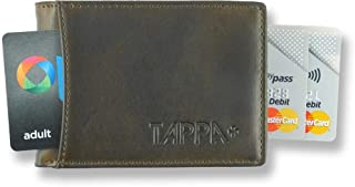 "Tappa Mens RFID""Smart"" Travel Wallet. Highest Quality Minimalist Design. Quick Draw Card Tab. Unique""TAP"" Design for Transport Cards. No Metal Parts That Scratch, Irritate Or Break (Vintage Brown 2)"