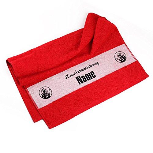 Herz & Heim® Handtuch 50 x 100 cm für Feuerwehr Leute mit Namensaufdruck