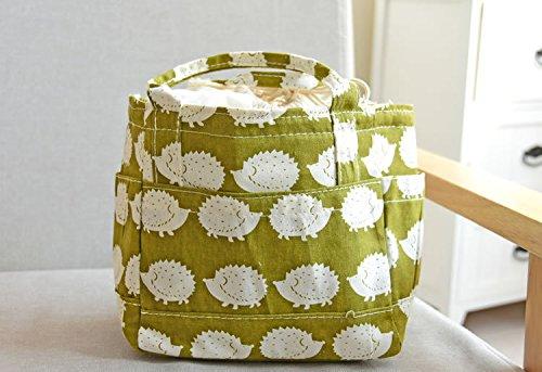 Mirayen Runden Baumwolle Isoliertasche Kühltasche Thermotasche Lunchtasche Mittagessen Lunch Tasche Picknicktasche fuer Kinder Erwachsene Zur Schule Gehen ins Büro (gelb)