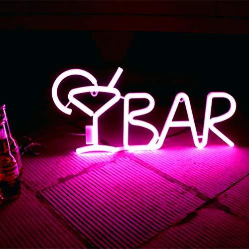 Yunobi Neon-Licht-Bar-Schild – Buchstabenförmige Neon-Bar-Schilder, LED-Neon-Licht-Schilder, Licht für Party, Bar, Zuhause, Wandkunst-Dekoration