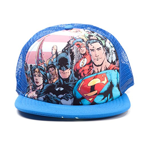 Justice League - Casquette Trucker Snapback - Heroes Blue