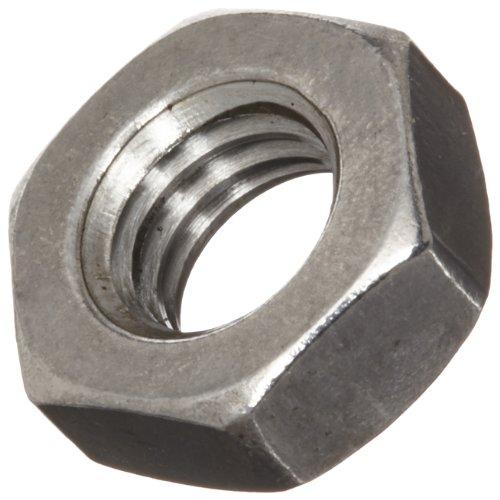 18-8 Stainless Steel Machine Screw Hex Nut, Black Oxide Finish, ASME B18.6.3, 5/16