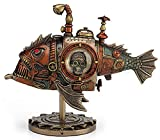 "VERONESE 8.5"" Steampunk Submarine Melanocetus - Unus Anglerfish Statue Sculpture Figure"