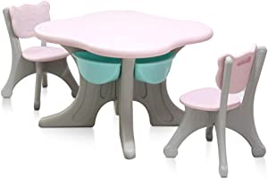 Kids Furniture Set Craft Table  amp  Kids Chairs and Storage Fun Work Activity Station For Tea Parties Homework Games Hobbies