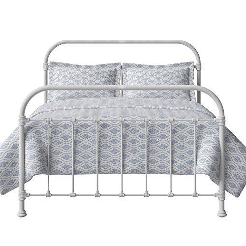 The Original Bed Co. Cama De Metal Timolin Cama De Estructura De Hierro Satén Blanco 160 x 200 CM