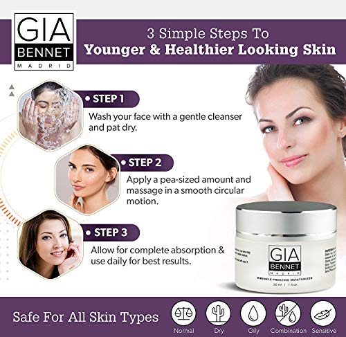 51iFAa4EgUL - GIA BENNET Premium Wrinkle Freezing Moisturizer for Firm Skin Structure, Day and Night Ultimate Luxury Revitalizing Cream- Age Defying Spa, 1oz / 30ml