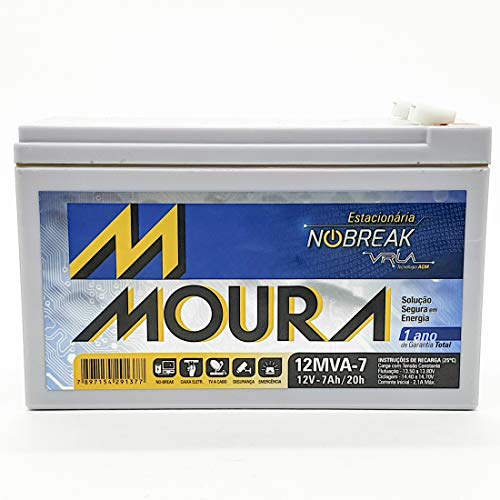 Bateria Moura Centrium ENERGY 12MVA-7 Estacionaria Nobreak 12V 7AH