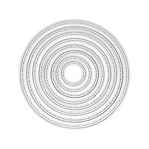 8 Unids Círculo de Metal Plantillas de Troqueles De Corte Decoración Troquelados Carpeta de Grabación En Relieve Plantilla Craft