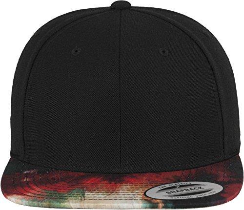 Flex fit Oil Paint Snapback Black/Multicolour One Size Casquette Unisex-Adult