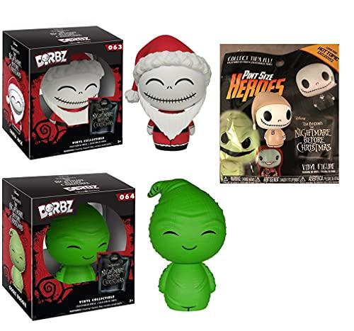 It was The Night Before Creepiest Characters Funko Bundle (3 piezas) Dorbz 064 Oggie Boogie/Dorbz 063 Santa Jack Skellington + bolsa de regalo para ciegos de Pesadilla antes de Navidad