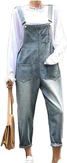 maweisong 女性カジュアルバギーフィットデニムビブロンパージャンプスーツパンツオーバーオールズボン