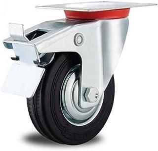 EXCOLO Rol transportwielen massief rubberen banden 125 mm rubber zwart kogellagers (rol/rem 125 mm)