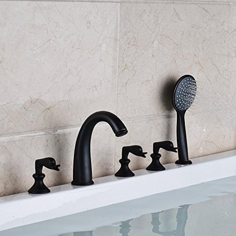 Neue Badewanne Armatur Wasserhahn Deck montiert 5 pcs Badezimmer Badewanne Mischbatterie verbreitet 5 Lcher Whirlpool Füller, B