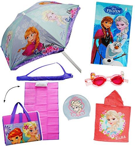 alles-meine.de GmbH 3-D _ Schwimmbrille / Chlorbrille / Taucherbrille -  Disney die Eiskönigin - Frozen  - Kinder von 2 bis 12 Jahre - Mädchen / - hochwertiger Silikon - verste..