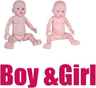 Baosity 2 Pcs Newborn Baby Care Model Infant Mannequins Boy & Girl Baby Doll for Health Education Teaching, Nursing Practice
