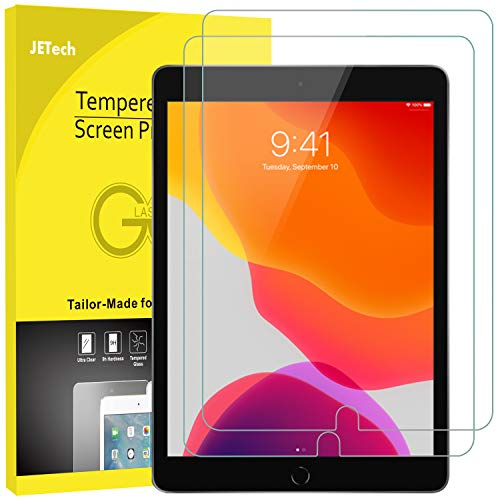 JETech Schutzfolie für iPad 7 (10,2 Zoll, Modell 2019) iPad Air 3 (10,5 Zoll, 2019) and iPad Pro 10,5 (2017), Panzerglas Displayschutzfolie, 2 Stück