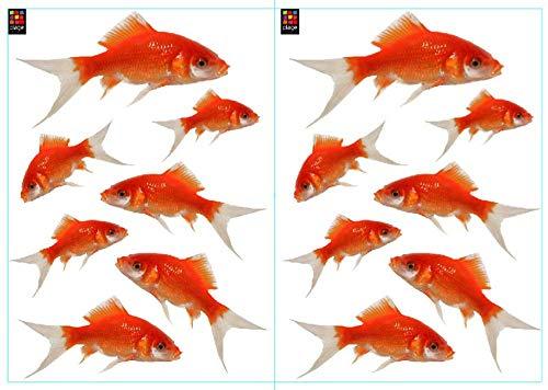 Décoration adhésive 157103 Poissions, Polyvinyle, Orange, 21 x 0,1 x 29,6 cm