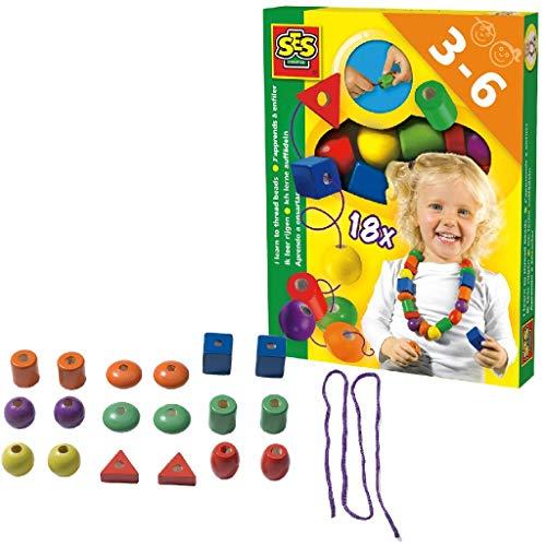 SES Creative 14808 lerne auffädeln, Mehrfarbig