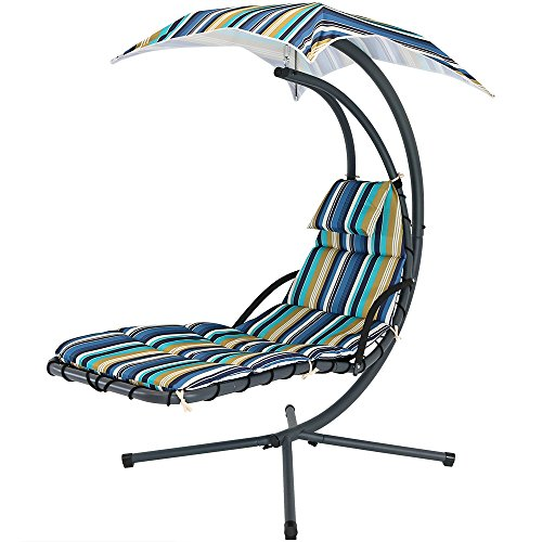 Sunnydaze Floating Chaise Lounger, Outdoor Hanging Hammock...