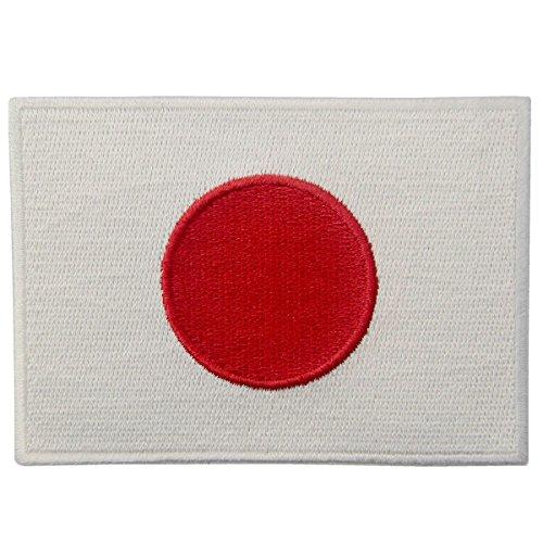 Bandera de Japón Emblema Japonés Parche Bordado de Aplicación con Plancha