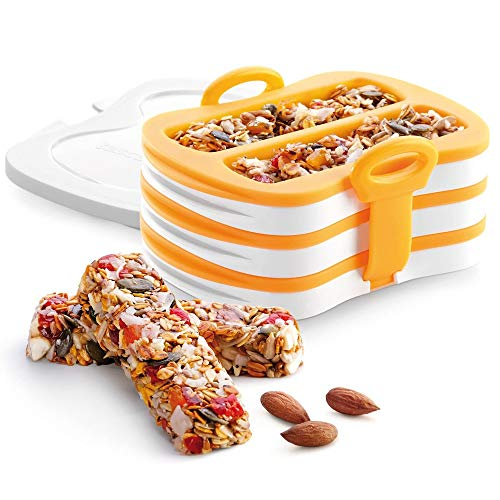ZPFDM Energieriegelform, Rechteck-Müsliriegel-Silikonform, Nährstoff-Müsliriegelformen, Energieriegelhersteller zum Backen von Brot, Schokoladentrüffel, Käsekuchen