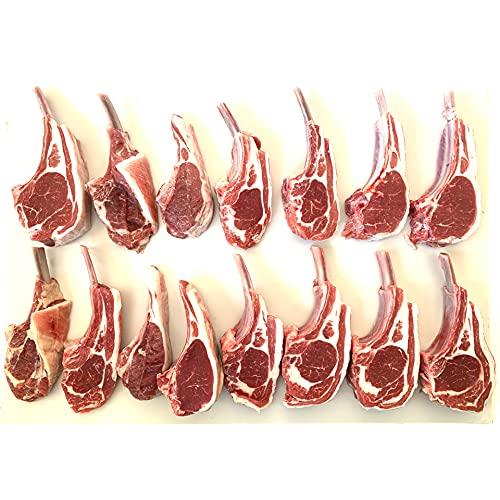 訳ありラムチョップ ジンギスカン たれ 付 ラムチョップ ジンギスカン 骨付ラム/ラムラック 焼き易い開いた 焼肉/BBQ 用 骨付きジンギスカン 訳あり 1kg (約14本)