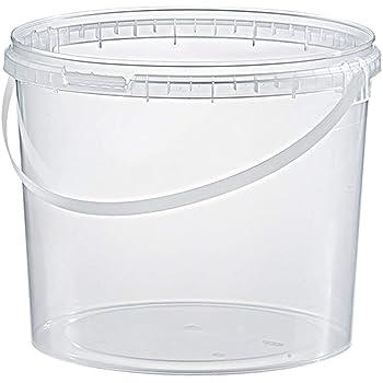 con Coperchio Trendfinding Secchio in plastica per Alimenti 1 l Trasparente Trasparente