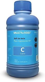 Refil de Tinta para Cartucho Impressoras HP com 250ml Ciano Multilaser - RF010