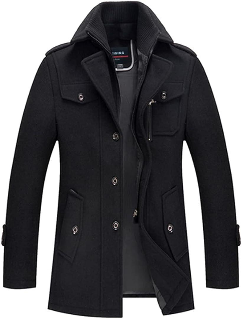 Men's Winter Coats Thick Cotton Wool Jackets Male Casual Fashion Long Jacket Outwear