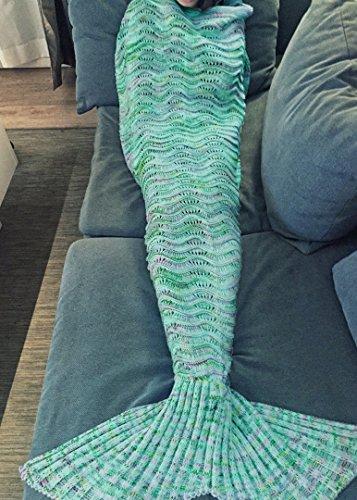 Meerjungfrau geformte Häkeldecke Umecoo...