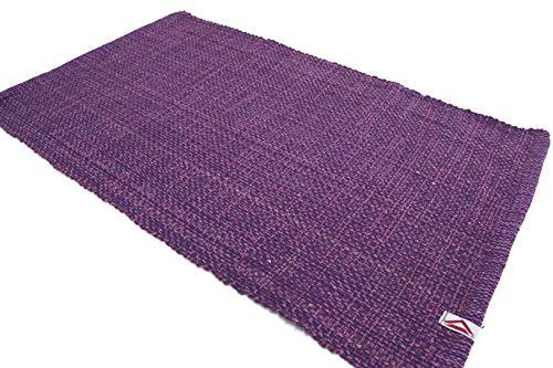 Casa Service Ecoprime Tappeto Cotone Bagno e Cucina Lavabile in Lavatrice - 10 Colori - 100% Cotone - Super assorbenza - Senza Antiscivolo (Violet, 50x80 cm.)