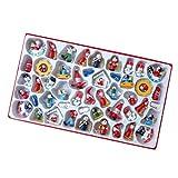 Toyvian 48 Pçs/Set Boneca de Madeira de Natal Diy Pintada à Mão Pequeno Fantoche de Ãrvore de Natal Enfeites Bugigangas para Crianças Crianças Padrão Aleatório