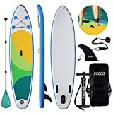 Triclicks Tavola da Paddle Surf Paddle Board (15 cm di Spessore) Pagaia, Pompa, Sacca Tras...