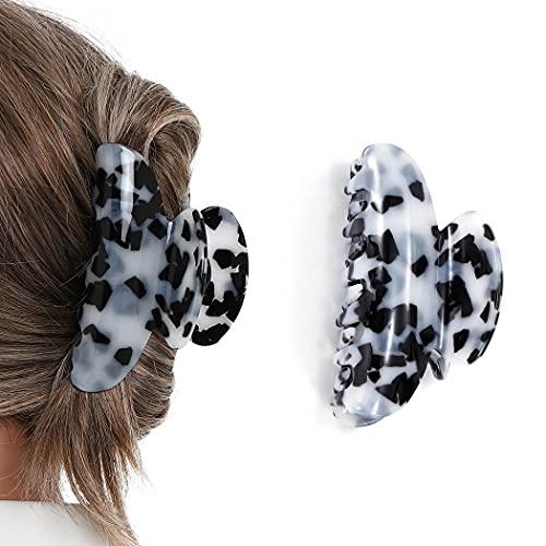 Runmi - Pinzas para el pelo de leopardo, pinzas para el pelo grandes, pinzas para el pelo, diseño francés, accesorios de peluquería para mujeres y niñas