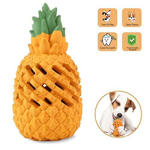 Wenxuan Kauspielzeug für Hunde, Ananas, für aggressive Kauer, unzerstörbar, interaktives Leckerli-Spielzeug für große, mittelgroße und kleine Hunde – Spaß zum Kauen, Jagen und Apportieren, X-Small