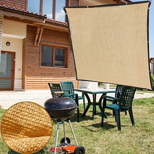 Velas de Sombra Jardín Patio Trasero Sombra Malla Paños Toldos En Color Beige Refugios para El Sol Al Aire Libre Borde Encintado con Ojales, Vela A Prueba de Viento para Patio Balcón (Size : 3×6m)
