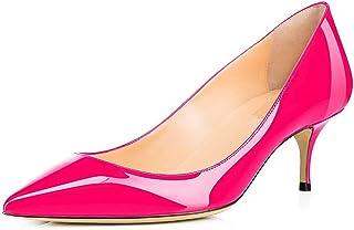 Divanne Pumps for Women, Women's Low Heel Pumps Pointy Toe Kitten Heels Silp On Office Shoes