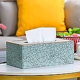 Caja de pañuelos, cubierta de la caja de pañuelos, cajas de pañuelos de cuero, cajas de pañuelos de cuero, vida en el hogar