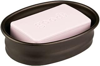 iDesign Olivia Countertop Bar Soap Dish, Metal Soap Holder for Bathroom, Shower, Vanity, 3.7
