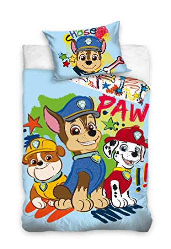 Viacom International Ropa de cama de bebé Patrulla Canina, 100 x 135 + 40 x 60 cm, algodón