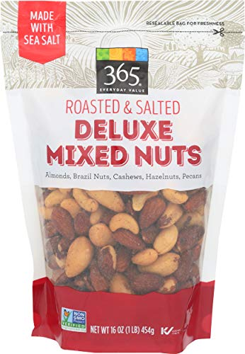 365 Everyday Value, Deluxe Mixed Nuts, Roasted & Salted, 16 oz