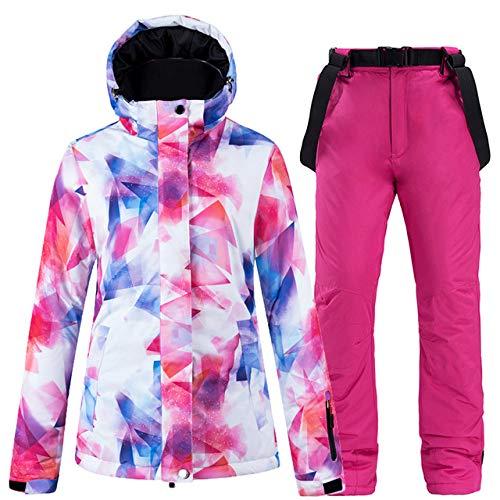 ZYJANO ski pak Mode Gekleurde Winter Suit, Vrouwen Snowboard Kleding, Winter 10K Waterdichte Suits, Warm Ski Jas en Overalls, ski Broeken
