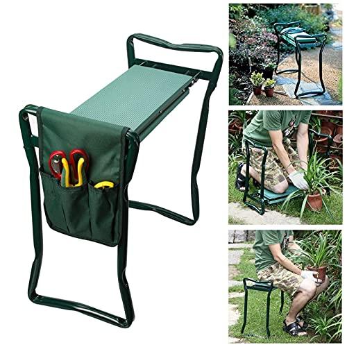 Panca da giardino, pieghevole, 60 cm, lunghezza fino a 120 kg, con borsa per attrezzi