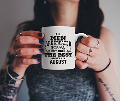 All Men are Created Equal but Only the Best are Born in August - The Legends | Leo Pride Birthday & Anniversary Gift Mug